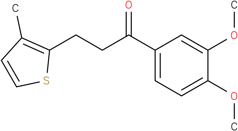 1-(3,4-Dimethoxy-phenyl)-3-(3-methyl-thiophen-2-yl)-propan-1-one