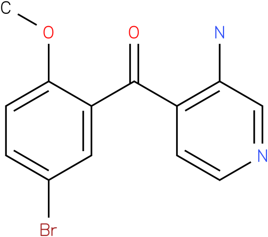 (3-Amino-pyridin-4-yl)-(5-bromo-2-methoxy-phenyl)-methanone