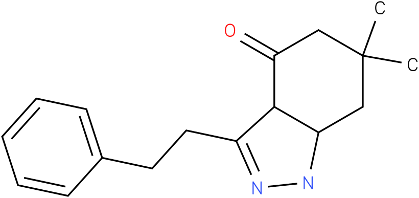 6,6-Dimethyl-3-phenethyl-1,3a,5,6,7,7a-hexahydro-indazol-4-one