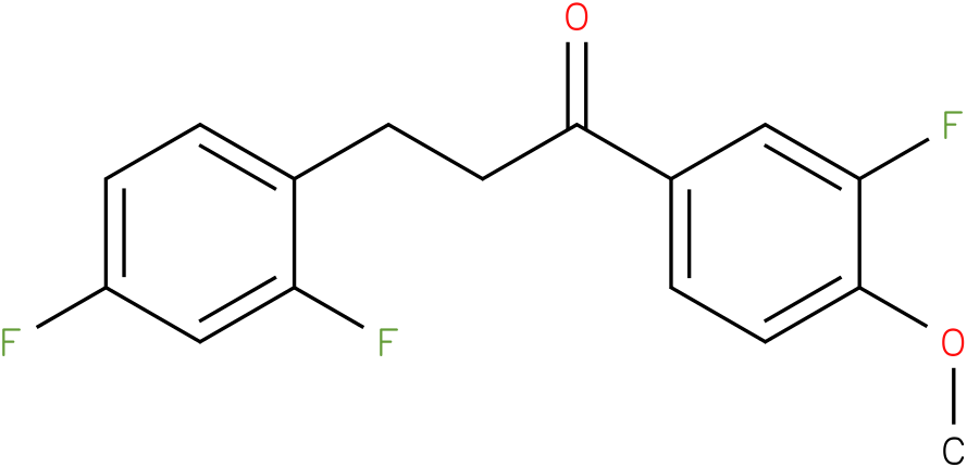 3-(2,4-Difluoro-phenyl)-1-(3-fluoro-4-methoxy-phenyl)-propan-1-one