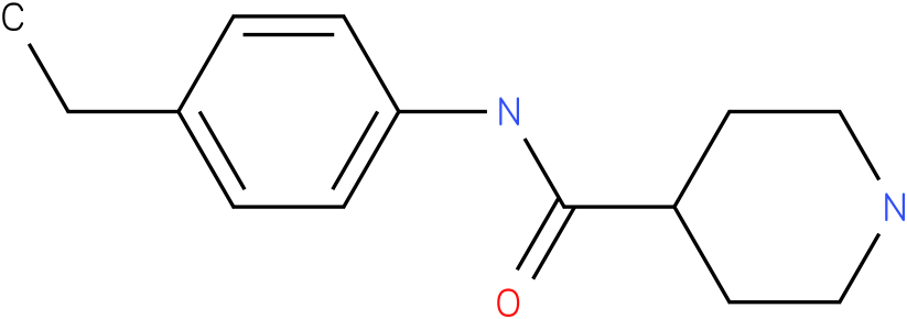 Piperidine-4-carboxylic acid (4-ethyl-phenyl)-amide