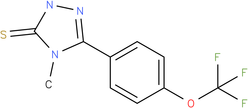 4-Methyl-5-(4-trifluoromethoxy-phenyl)-2,4-dihydro-[1,2,4]triazole-3-thione