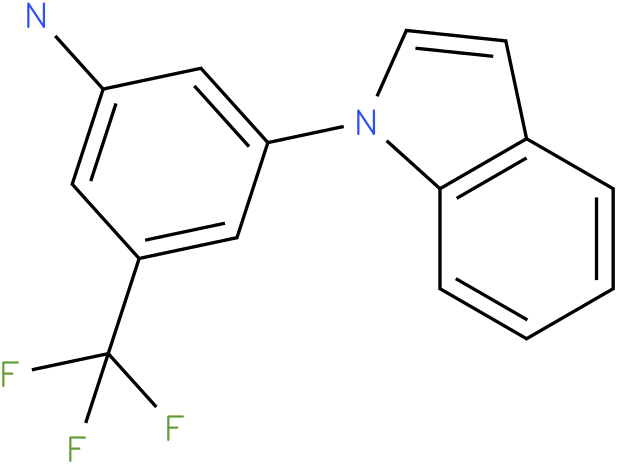 3-Indol-1-yl-5-trifluoromethyl-phenylamine