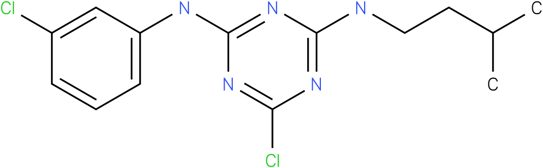 6-Chloro-N-(3-chloro-phenyl)-N'-(3-methyl-butyl)-[1,3,5]triazine-2,4-diamine