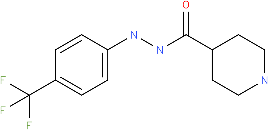 Piperidine-4-carboxylic acid N'-(4-trifluoromethyl-phenyl)-hydrazide