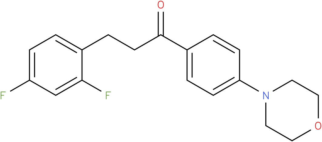 3-(2,4-Difluoro-phenyl)-1-(4-morpholin-4-yl-phenyl)-propan-1-one