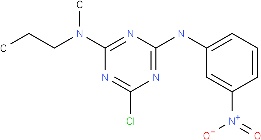 6-Chloro-N-methyl-N'-(3-nitro-phenyl)-N-propyl-[1,3,5]triazine-2,4-diamine