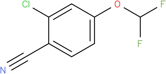 2-chloro-4-(difluoromethoxy)benzonitrile