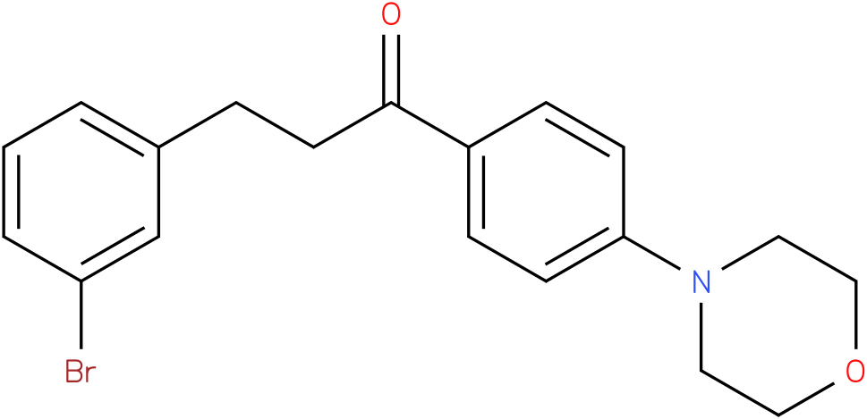 3-(3-Bromo-phenyl)-1-(4-morpholin-4-yl-phenyl)-propan-1-one