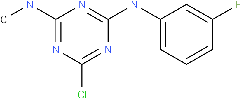 6-Chloro-N-(3-fluoro-phenyl)-N'-methyl-[1,3,5]triazine-2,4-diamine