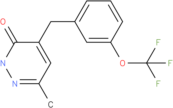 6-Methyl-4-(3-trifluoromethoxy-benzyl)-2H-pyridazin-3-one