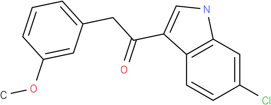 1-(6-Chloro-1H-indol-3-yl)-2-(3-methoxy-phenyl)-ethanone