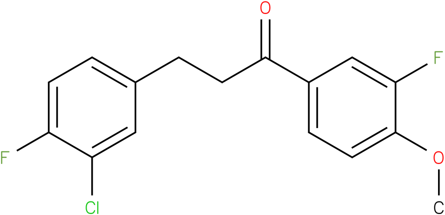 3-(3-Chloro-4-fluoro-phenyl)-1-(3-fluoro-4-methoxy-phenyl)-propan-1-one