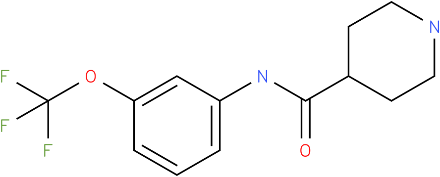 Piperidine-4-carboxylic acid (3-trifluoromethoxy-phenyl)-amide