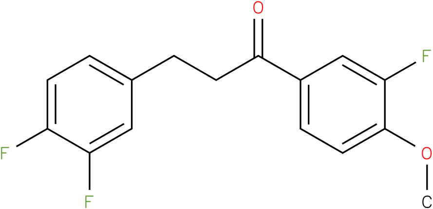 3-(3,4-Difluoro-phenyl)-1-(3-fluoro-4-methoxy-phenyl)-propan-1-one