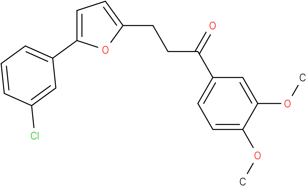 3-[5-(3-Chloro-phenyl)-furan-2-yl]-1-(3,4-dimethoxy-phenyl)-propan-1-one