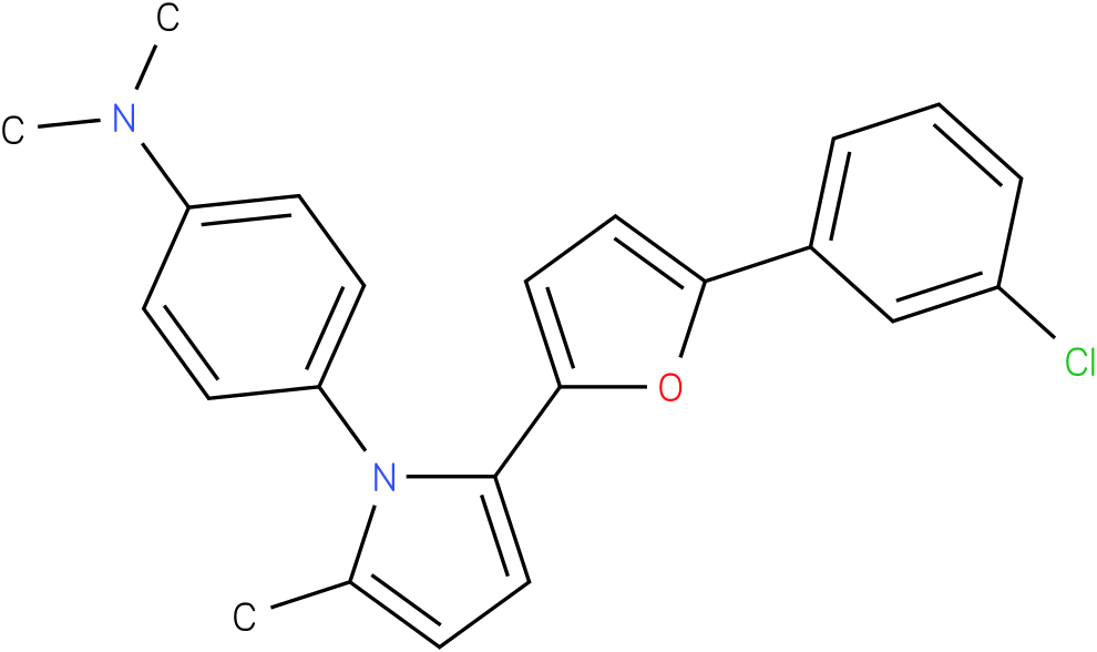 (4-{2-[5-(3-Chloro-phenyl)-furan-2-yl]-5-methyl-pyrrol-1-yl}-phenyl)-dimethyl-amine