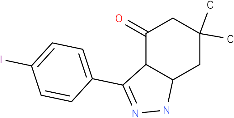 3-(4-Iodo-phenyl)-6,6-dimethyl-1,3a,5,6,7,7a-hexahydro-indazol-4-one