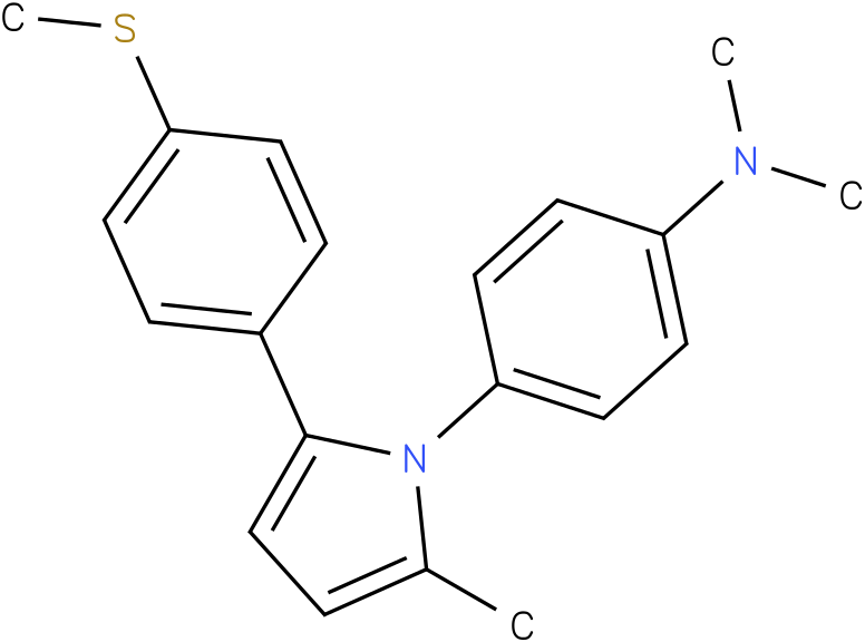 Dimethyl-{4-[2-methyl-5-(4-methylsulfanyl-phenyl)-pyrrol-1-yl]-phenyl}-amine