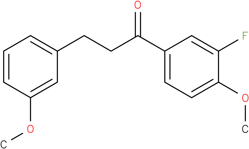 1-(3-Fluoro-4-methoxy-phenyl)-3-(3-methoxy-phenyl)-propan-1-one