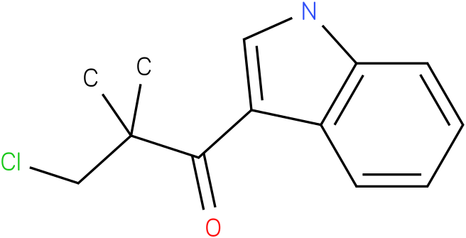 3-Chloro-1-(1H-indol-3-yl)-2,2-dimethyl-propan-1-one
