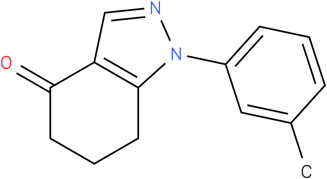 1-m-Tolyl-1,5,6,7-tetrahydro-indazol-4-one