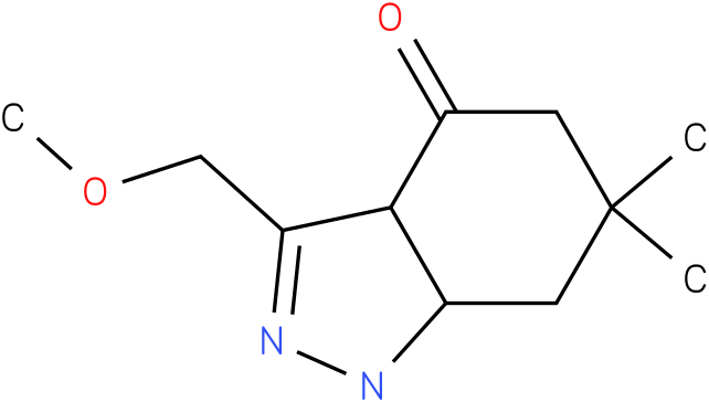 3-Methoxymethyl-6,6-dimethyl-1,3a,5,6,7,7a-hexahydro-indazol-4-one