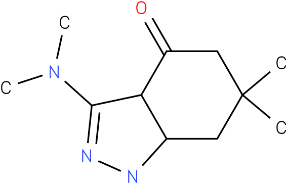 3-Dimethylamino-6,6-dimethyl-1,3a,5,6,7,7a-hexahydro-indazol-4-one