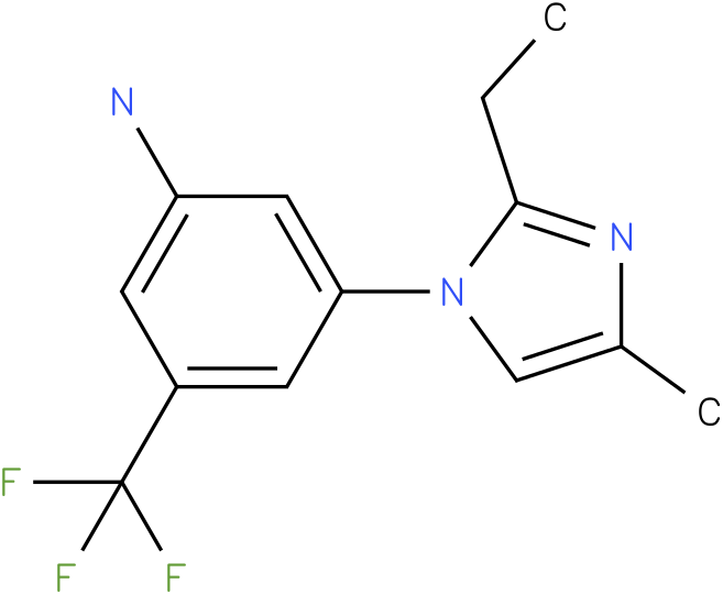 3-(2-Ethyl-4-methyl-imidazol-1-yl)-5-trifluoromethyl-phenylamine