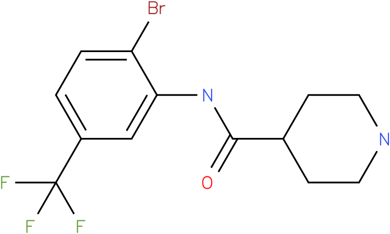 Piperidine-4-carboxylic acid (2-bromo-5-trifluoromethyl-phenyl)-amide
