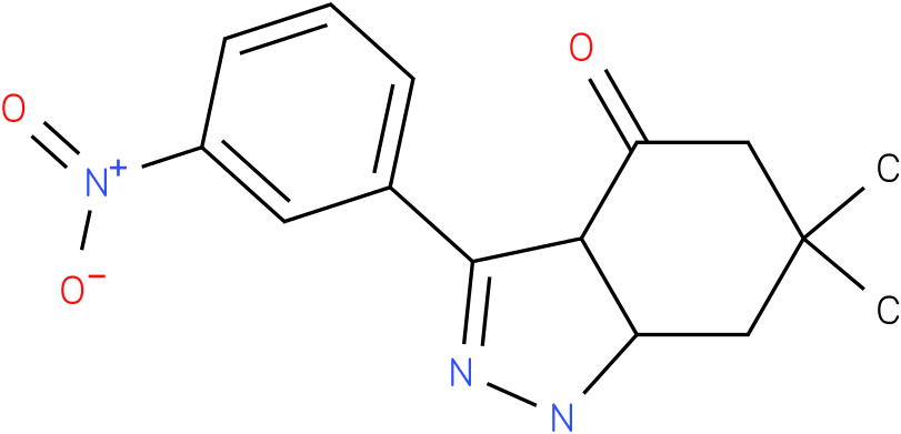6,6-Dimethyl-3-(3-nitro-phenyl)-1,3a,5,6,7,7a-hexahydro-indazol-4-one