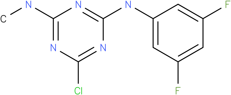 6-Chloro-N-(3,5-difluoro-phenyl)-N'-methyl-[1,3,5]triazine-2,4-diamine
