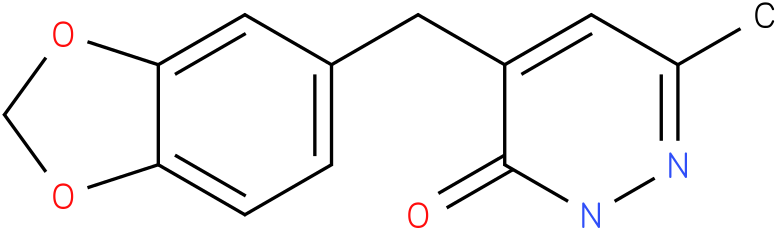 4-Benzo[1,3]dioxol-5-ylmethyl-6-methyl-2H-pyridazin-3-one