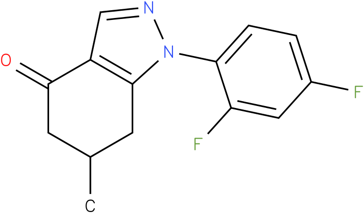 1-(2,4-Difluoro-phenyl)-6-methyl-1,5,6,7-tetrahydro-indazol-4-one