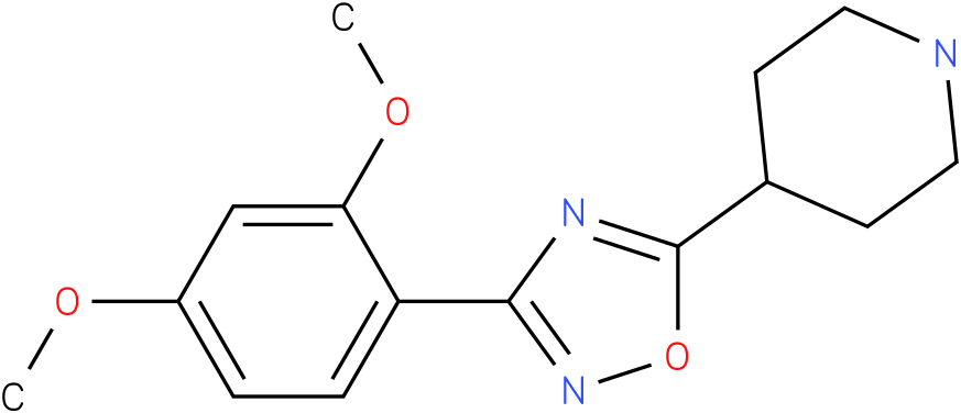 4-[3-(2,4-Dimethoxy-phenyl)-[1,2,4]oxadiazol-5-yl]-piperidine