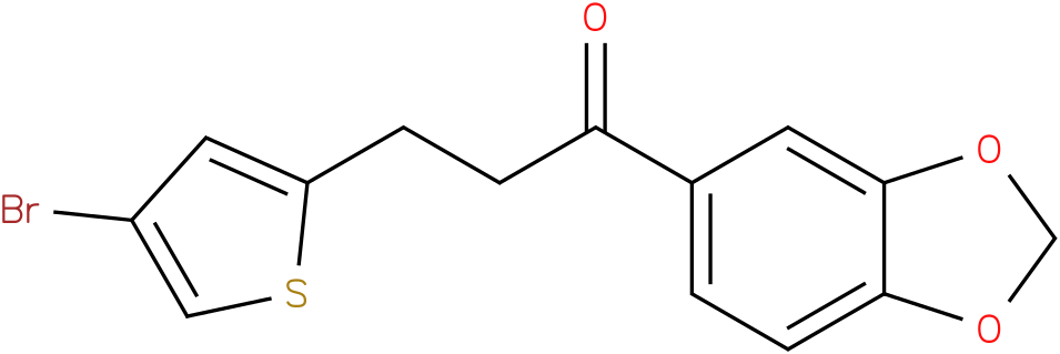 1-Benzo[1,3]dioxol-5-yl-3-(4-bromo-thiophen-2-yl)-propan-1-one