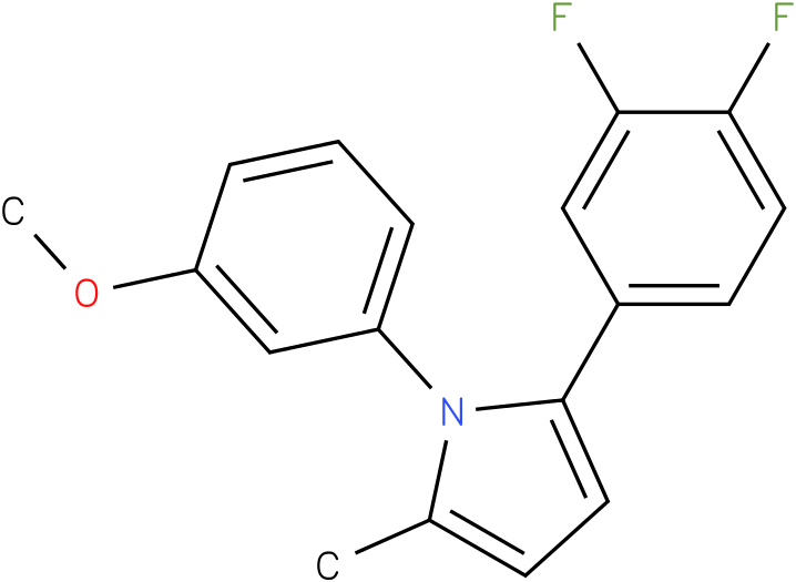 2-(3,4-Difluoro-phenyl)-1-(3-methoxy-phenyl)-5-methyl-1H-pyrrole
