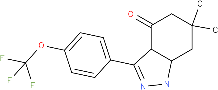 6,6-Dimethyl-3-(4-trifluoromethoxy-phenyl)-1,3a,5,6,7,7a-hexahydro-indazol-4-one