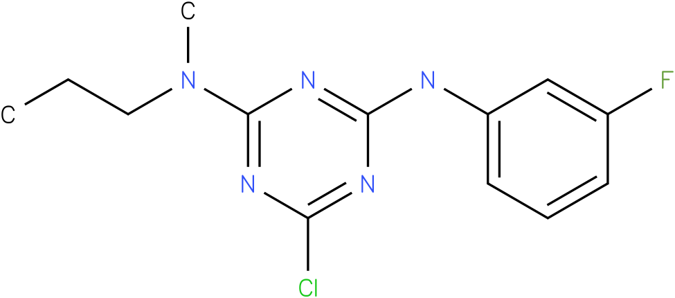 6-Chloro-N-(3-fluoro-phenyl)-N'-methyl-N'-propyl-[1,3,5]triazine-2,4-diamine