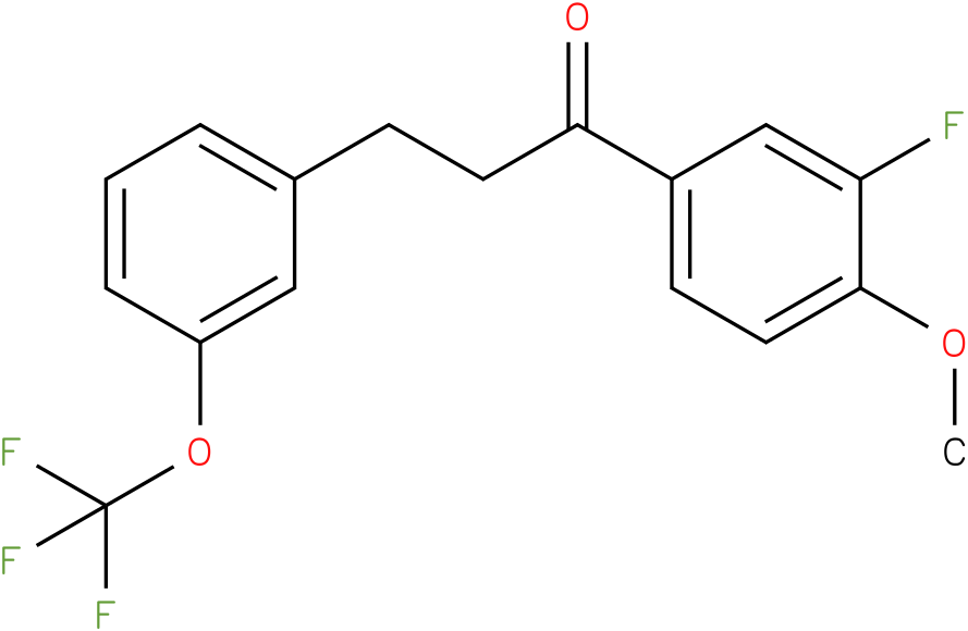 1-(3-Fluoro-4-methoxy-phenyl)-3-(3-trifluoromethoxy-phenyl)-propan-1-one