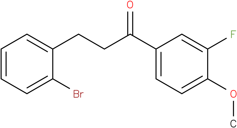 3-(2-Bromo-phenyl)-1-(3-fluoro-4-methoxy-phenyl)-propan-1-one
