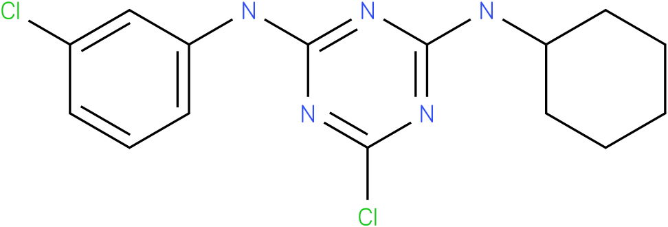 6-Chloro-N-(3-chloro-phenyl)-N'-cyclohexyl-[1,3,5]triazine-2,4-diamine