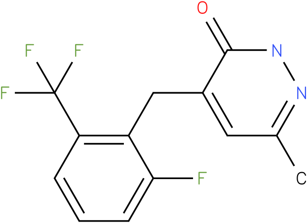 4-(2-Fluoro-6-trifluoromethyl-benzyl)-6-methyl-2H-pyridazin-3-one