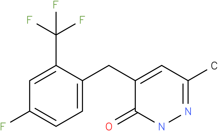 4-(4-Fluoro-2-trifluoromethyl-benzyl)-6-methyl-2H-pyridazin-3-one