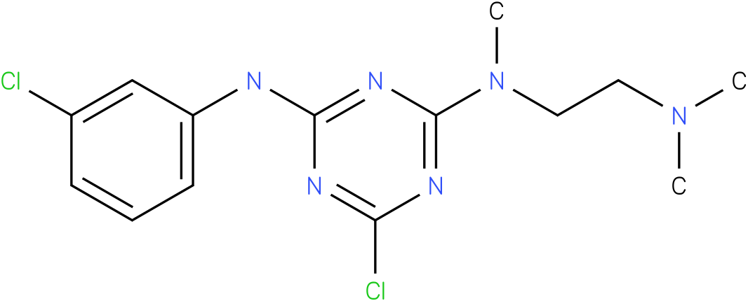 6-Chloro-N-(3-chloro-phenyl)-N'-(2-dimethylamino-ethyl)-N'-methyl-[1,3,5]triazine-2,4-diamine