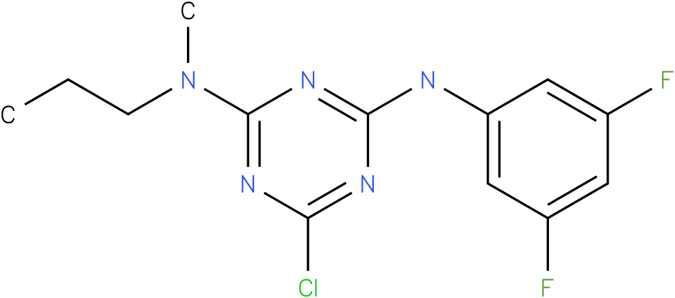 6-Chloro-N-(3,5-difluoro-phenyl)-N'-methyl-N'-propyl-[1,3,5]triazine-2,4-diamine