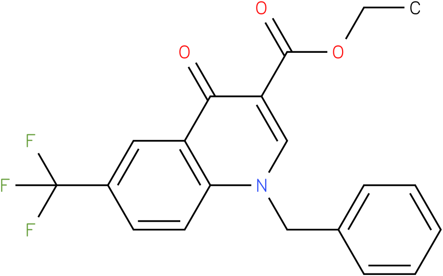 1-Benzyl-4-oxo-6-trifluoromethyl-1,4-dihydro-quinoline-3-carboxylic acid ethyl ester