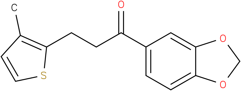 1-Benzo[1,3]dioxol-5-yl-3-(3-methyl-thiophen-2-yl)-propan-1-one