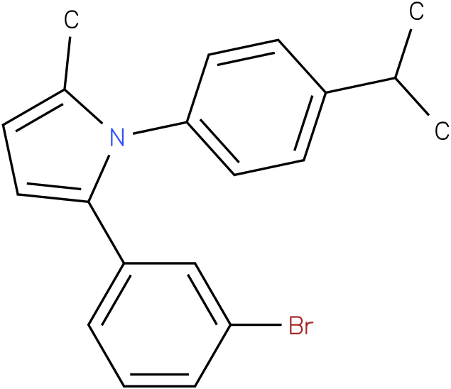 2-(3-Bromo-phenyl)-1-(4-isopropyl-phenyl)-5-methyl-1H-pyrrole