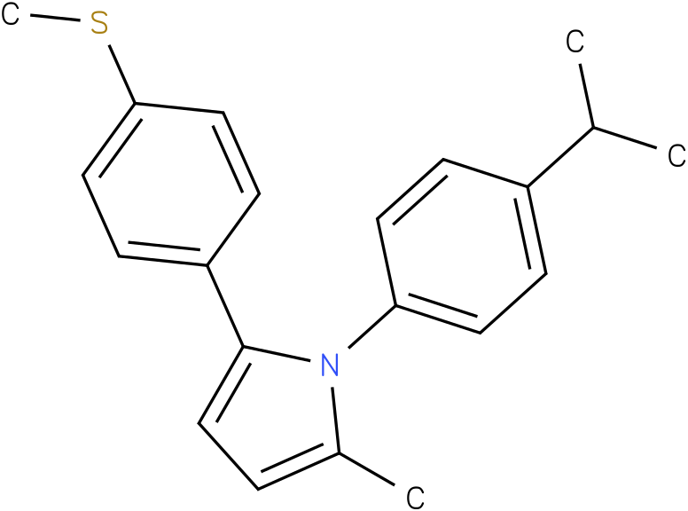 1-(4-Isopropyl-phenyl)-2-methyl-5-(4-methylsulfanyl-phenyl)-1H-pyrrole